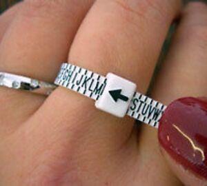 Ring sizer, guage, size? UK & international sizes gauge