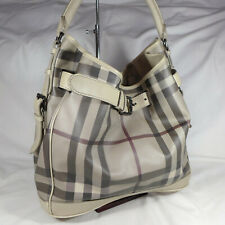 Authentic Burberry Walden Smoked Check Medium Shoulder Hobo Handbag Purse VGC