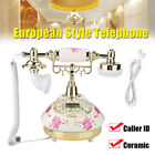 MS-9101 Retro Corded Telephone Vintage Desktop Phone for Home Office Hotel White