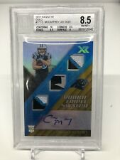 2017 Panini XR Christian McCaffrey Rookie Triple Patch Auto Gold 2/3! BGS 8.5!