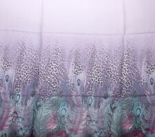 Silk Scarf Soft Sheer Half Sarong Wrap Feather Roses Flower Leopard Colors