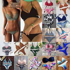 Women Push-up Padded Bra Bandage Bikini Set Swimsuit Triangle Swimwear Bathing