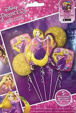Disney Princess Rapunzel Birthday Party Favor Supplies Balloon Bouquet 5 Piece~