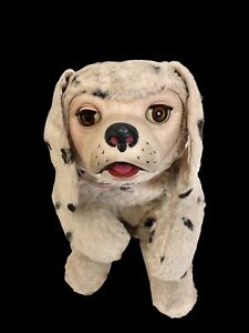 "Vintage Gund Rubber Face Plush Puppy Dog Toy 12"" Sami Foam Sleepy Eyes"