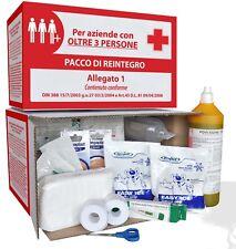 KIT REINTEGRO ALLEGATO 1 PER CASSETTA MEDICA PRONTO SOCCORSO + 3 DIP. S/SFIGMO