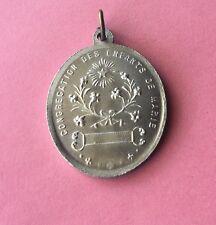 Congrégation Des Enfants De Marie,medaille En Aluminium