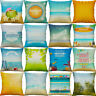 18'' Pillow Case Summer Beach Starfish Cotton Linen Cushion Cover Home Decor