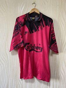 NIKE 90s FOOTBALL SHIRT SOCCER JERSEY VINTAGE RAREsz XL RED