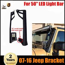 "JEEP WRANGLER 07~16 JK 50"" LED LIGHT BAR WINDSHIELD MOUNTING STEEL BRACKET"