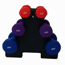 NEW PALM SPRINGS TONING DUMBBELL WEIGHTS SET inc STAND