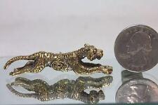 Miniature Figurine Brass Tiger Animal Metalwork Art #10