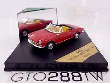 Vitesse 1:43 scale Fiat 124 AS Spider Sport 1966 (Red - Rosso) 046A *MEGA RARE*