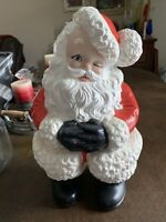 "Vintage SANTA CLAUS Ceramic Atlantic Mold 15"" Indoors Outdoors Christmas Painted"