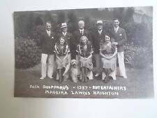 Rare RPPC Jack Sheppard's 1937 Entertainers Madeira Lawns Brighton   §D115