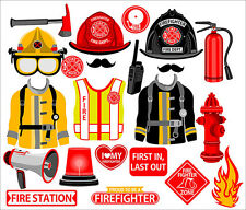 DIY DIGITAL Firefighter inspired photo booth props NO PHYSICAL ITEM