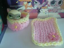 accessories for littlest pet shop bed and blanket lps cat not included