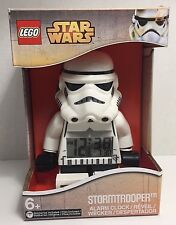 Star Wars LEGO Stormtrooper Digital Alarm Clock Lights Up Poseable NIB Figurine