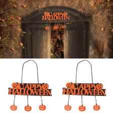 Happy Halloween Pumpkin Banner Pendant Door .Decor Hanging Party Decor