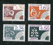 Série Préoblitérés FRANCE neufs TB** YT n° 194 à 197 : MOIS de L'ANNEE - 1987