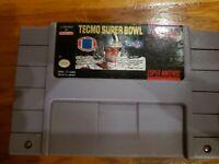 Tecmo Super Bowl Super Nintendo SNES Original OEM Authentic Game!