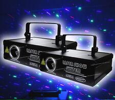 2X 500mW RGB 3D Laser Projector,Cartoon DMX, Multi effect DJ Party Stage lighing