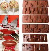 Lips Lollipop Cake Mold Flexible Silicone Mould For Candy Chocolate+Sticks