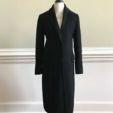 Calvin Klein Collection Coat Womens 6 Long Wool Button Down Lined Black Label