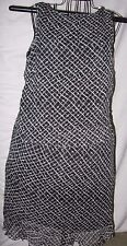 2 piece B&W Allison Taylor 100% Silk both Shell&Lining Matching M Top & L Skirt