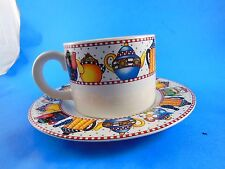 Mary Engelbreit Christmas Cup & Saucer Be Warm Inside & Out 2003