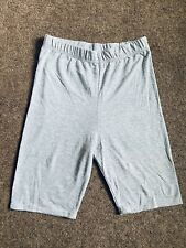 New Pretty Little Thing Ladies Grey Shorts Sz8 Cycling Yoga Gym Running Workkout