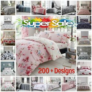 LUXURY KING SIZE Duvet Cover Bedding Set Soft Reversible Quilt With Pillowcases
