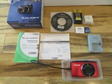 Canon PowerShot SX280 HS 12.1MP Digital Camera Red Zoom Lens 20X Charger Battery