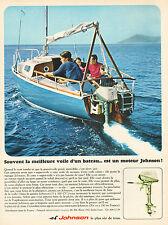 Publicité 1966  Moteur de bateau JOHNSON le plus sur de tous !