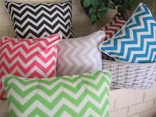 Cushion Cover: Chevron Colour Zig Zag Cotton pillow sofa throw home linen decor