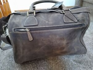 NWT Jack Daniels Leather Weekender Travel Duffle Bag Kingport