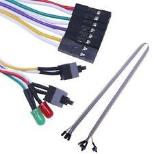 PC Desktop Computer gehäuse ATX Power Reset Schalter Kabel HDD LED lampe Kits,~