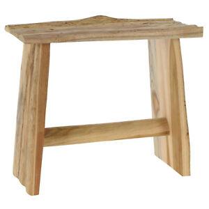 Handmade Solid Teak Wood Stool Solid Wood Bench Seating Rustic Home Outdoor