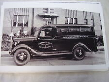 1935 FORD POLICE VAN TRUCK 11 X 17  PHOTO PICTURE