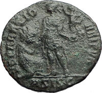 THEODOSIUS I the Great w kneeling woman AE2 Ancient Roman Coin  i74210