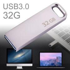 USB 3.0 Metal 32GB Flash Drive Memory Stick U Disk Pendrive For Laptop PC Mac