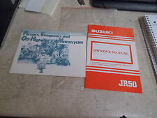 NOS OEM Suzuki Owners Manual JR50 & Parents Youngsters & Off Hwy 99011-04439-03A