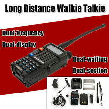 Rechargeable Dual-frequency Dual-display Dual-section LongDistance Walkie Talkie