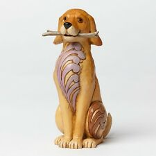 Jim Shore Heartwood Creek Brewster Dog With Stick Figurine Boxed 4045271