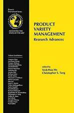 Product Variety Management: Research Advances (International Series in Operation