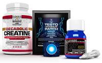 TESTO ANABOLIC PATCH +TESTO EXTREME ANABOLIC +DECABOLIC CREATINE NO STEROIDS