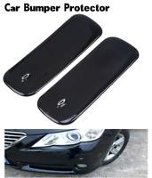 2PCS Universal Bumper Protector Guard Pad Kit Car Front Back Wall Rear BLACK