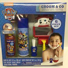 Paw Patrol Groom & Go Bath Set Mirror Shaving Brush Bowl Razor Hair Gel Foam