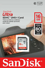 16GB SanDisk Memory SD Card For Nikon D40x Digital Camera