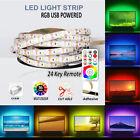 LED STRIP LIGHTS 5050 RGB COLOUR CHANGING TAPE UNDER CABINET KITCHEN TV USB UK