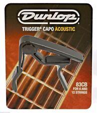 Genuine USA Jim Dunlop Acoustic Guitar Curved Trigger Capo J83CDB Black